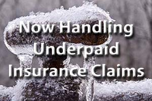Now Handling Underpaid Insurance Claims